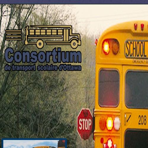 Create a vertical banner for a school bus organization