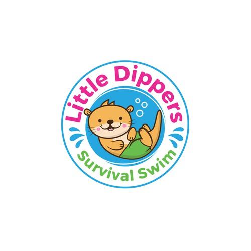 Logo Design for Little Dippers Survival Swim