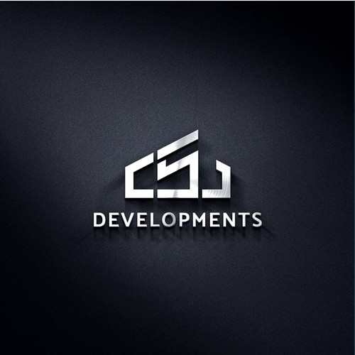 Clean and simple logo for CSJ Developments.