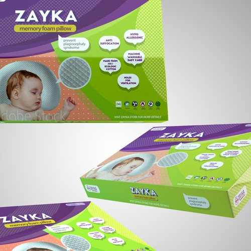 Packaging for Zayka Baby Pillow