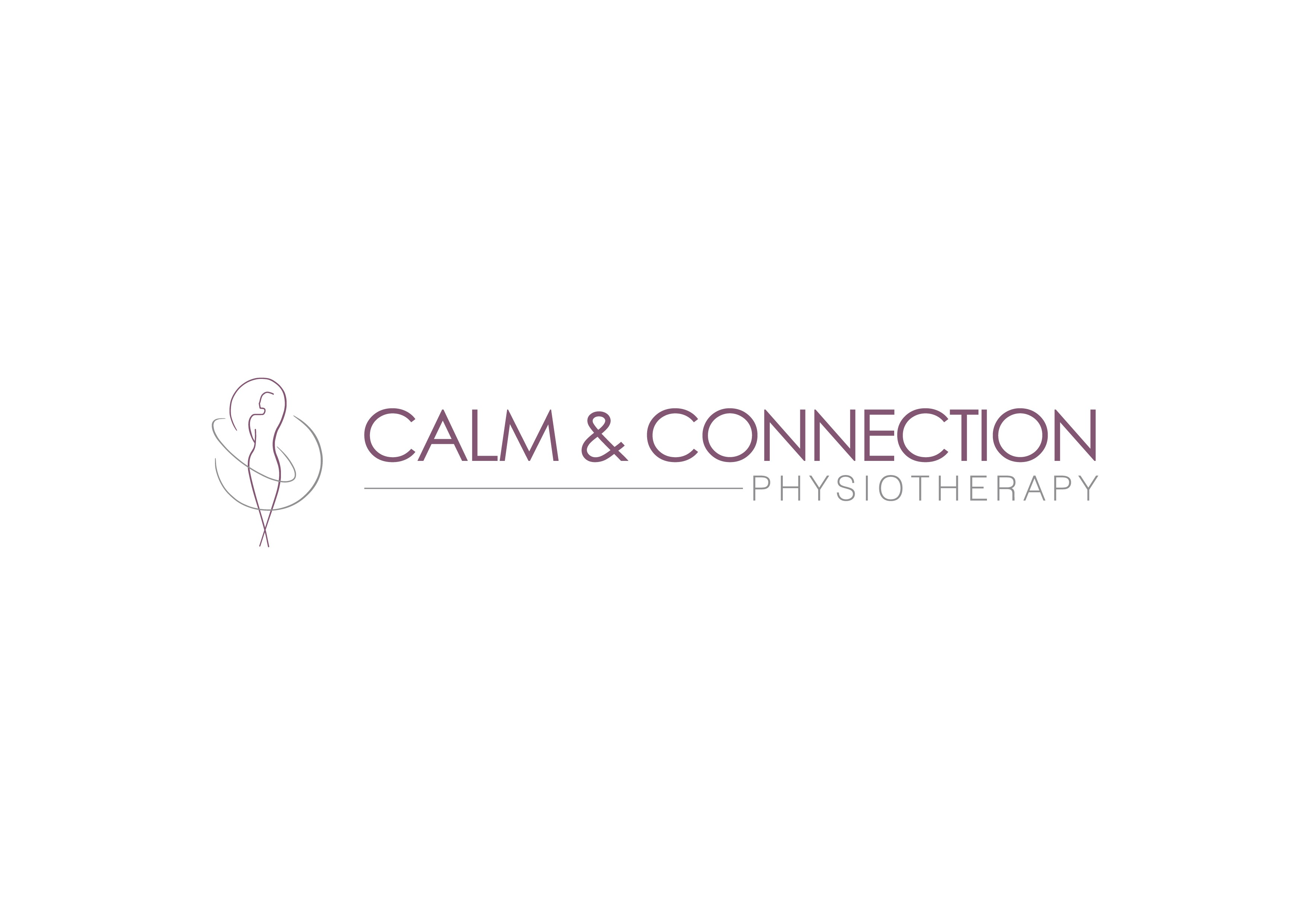 Create a serene yet empowering illustration for Calm & Connection Physiotherapy