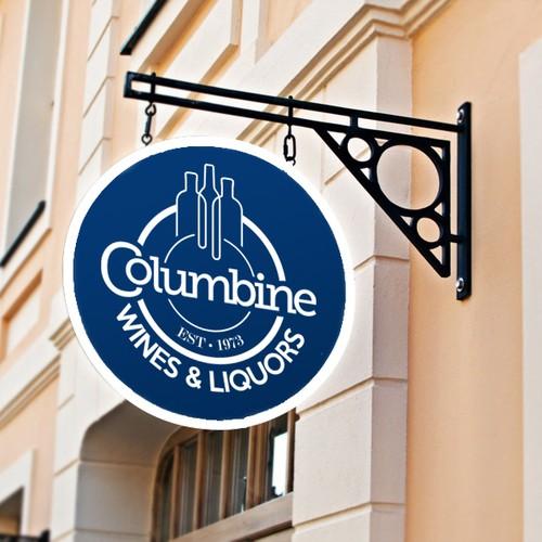 Columbine Wines & Liquors Logo