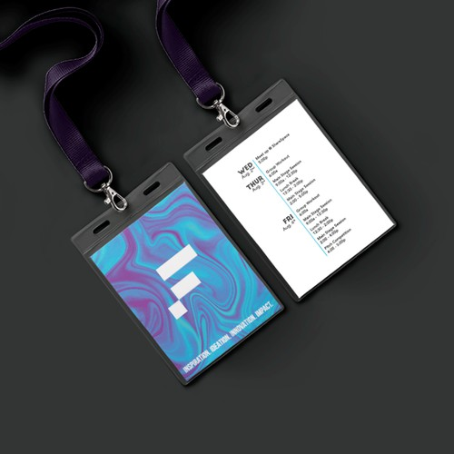 Modern and bold lanyard badge concept for conference