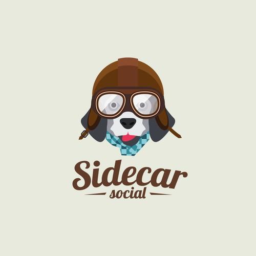 Playful logo with dog