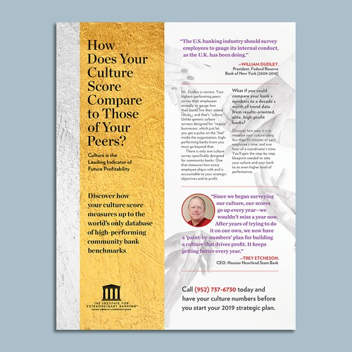 Print Ad Magazine for Institute for Extraordinary Banking