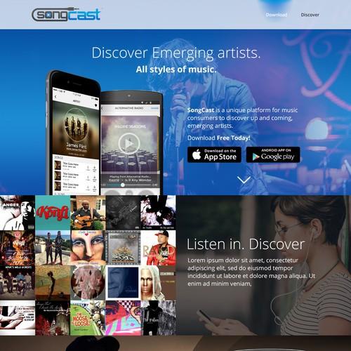 SongCast app Landing page