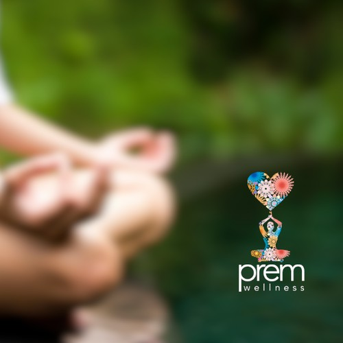 Create a logo for Prem Wellness (essential oils, energy healing & Kundalini yoga/meditation)
