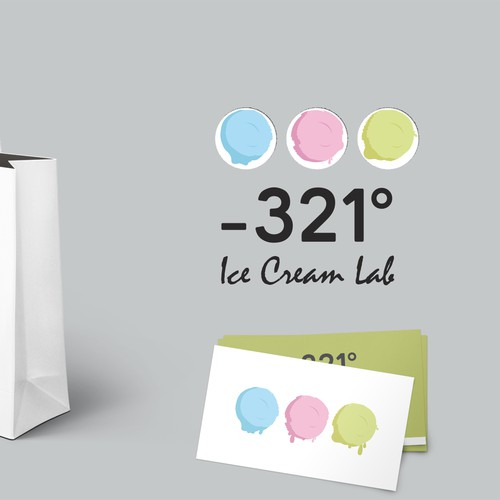 Ice cream company logo design