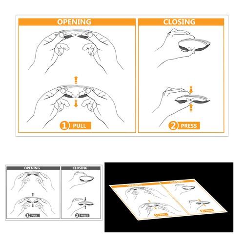Instruction manual for foldable glasses