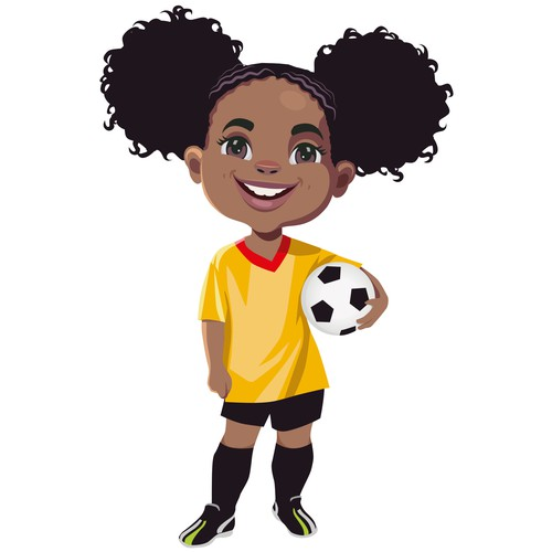 Design a cute African American Girl Character