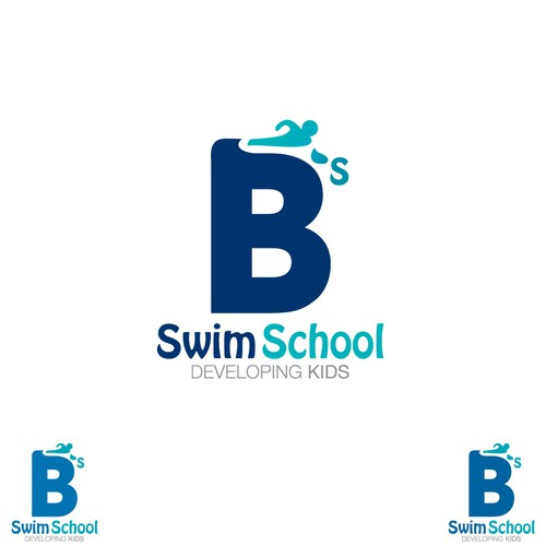 B's swim school logo