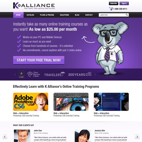 New website design wanted for K Alliance