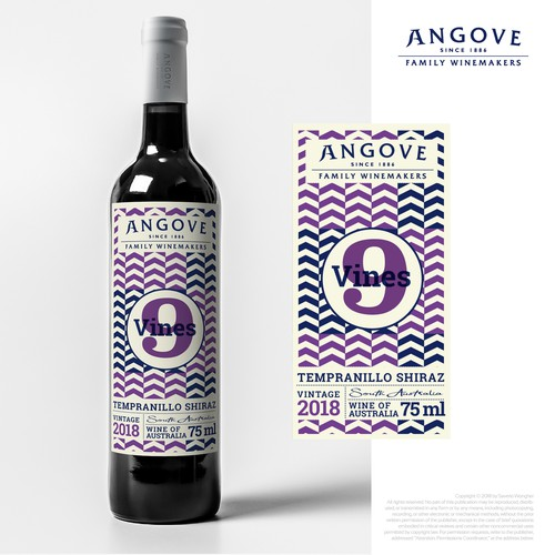 label premium hipster wine series