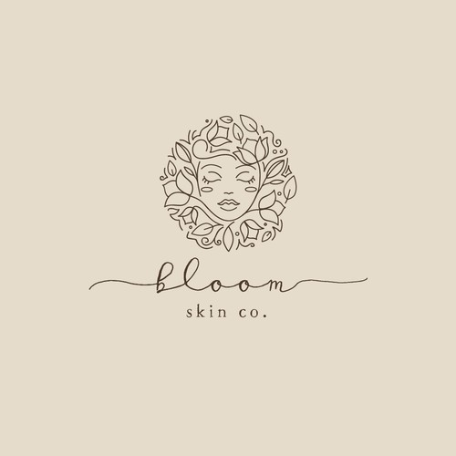 Organic Logo for a Luxury Skin Company