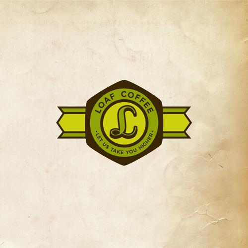 Modern/Vintage organic coffee brand logo