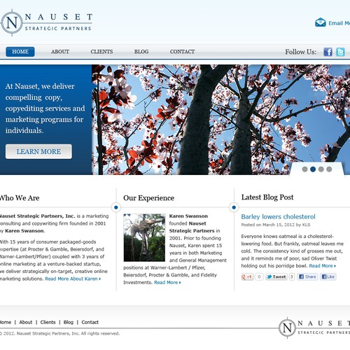 Create next website design for Nauset Strategic Partners, Inc - a marketing and copywriting consulting firm.