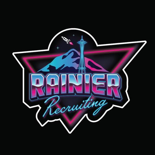 80's neon sticker design