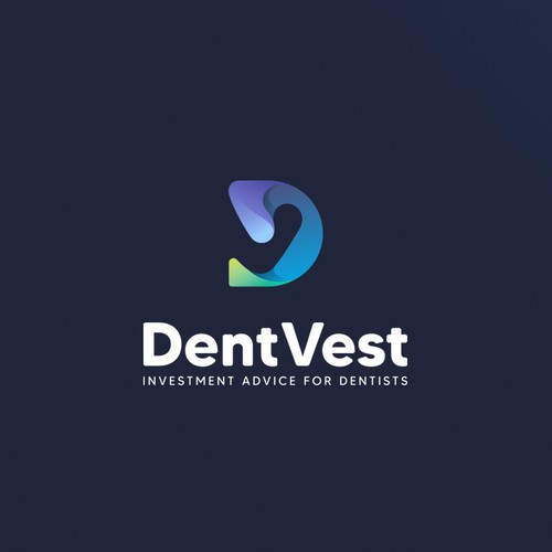 An Innovative And Futuristic Logo For DentVest Company, Specialist In Investment Advice For Dentists