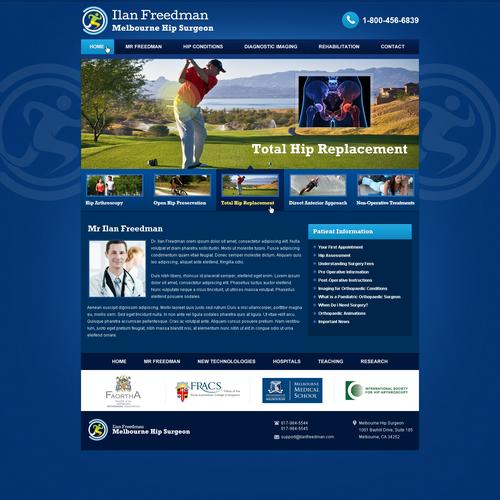 website design for Melbourne Hip Surgeon