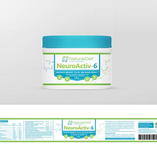 Neuro aktiv - 6,  label design