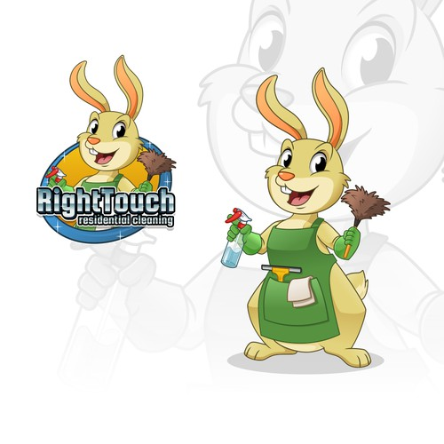 Mascot Design for Right Touch Residential Cleaning