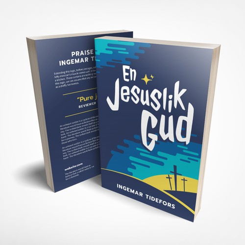 Friendly book cover design for book about Jesus