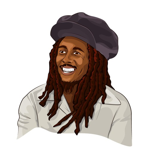 Sticker of Bob Marley for the community