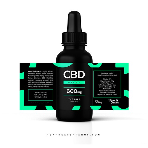 CBD liquid label design