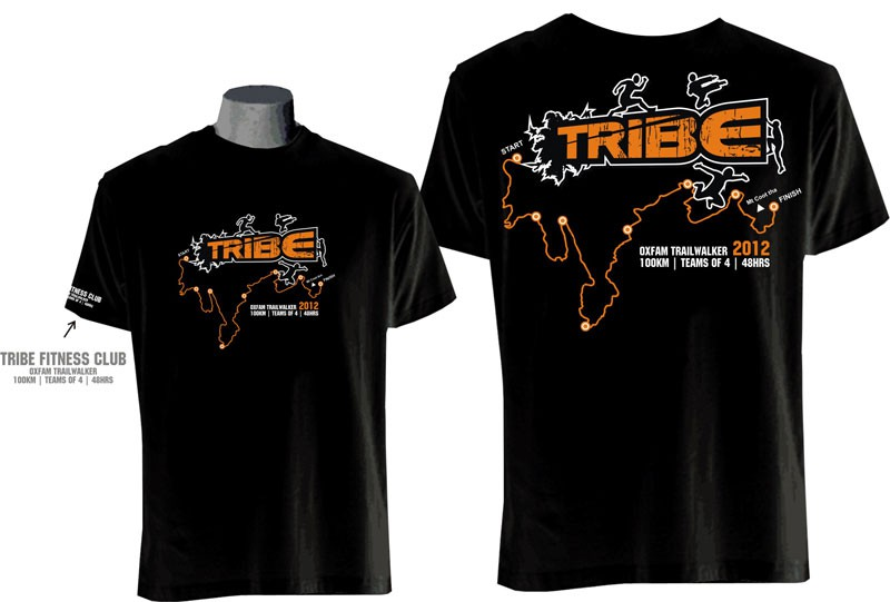 Tribe Team t-shirt design needed for the Oxfam Trailwalker - 100km   Teams of 4   48hrs!