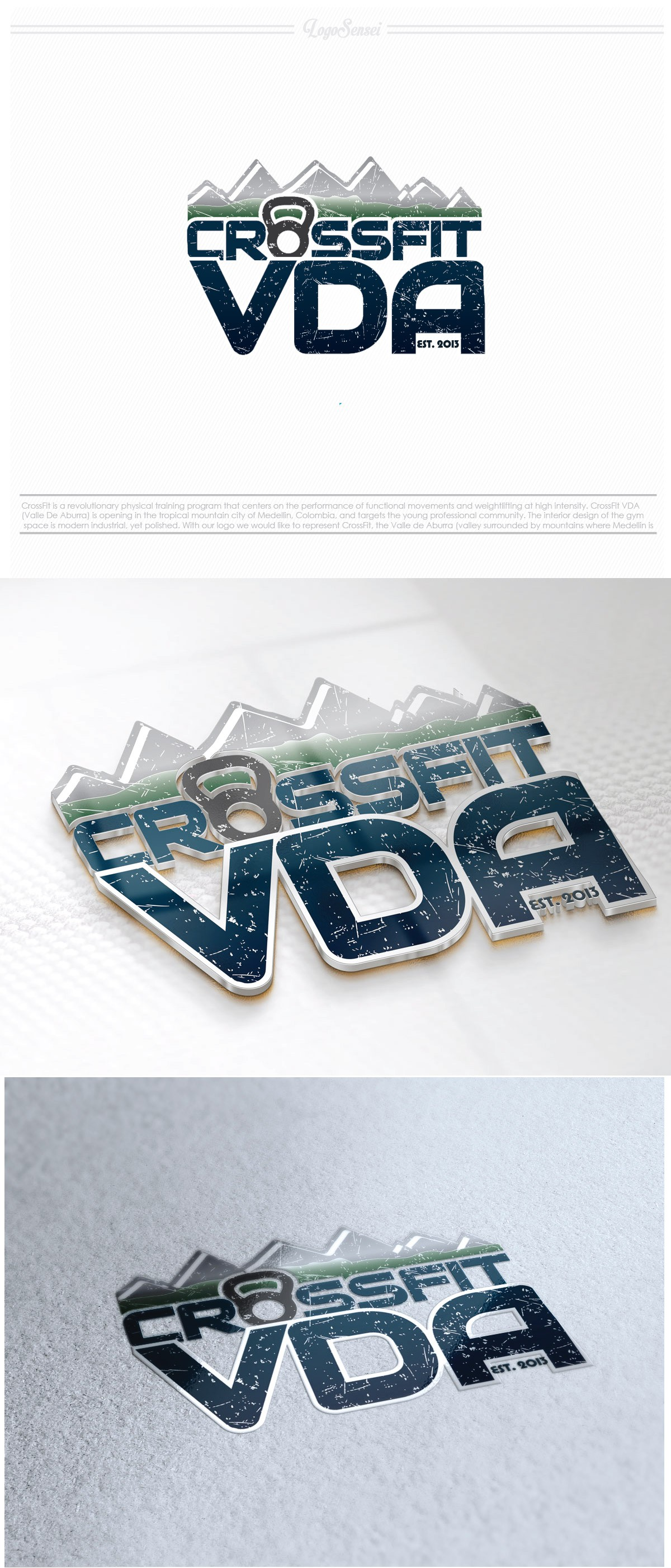 Create the next logo for CrossFit VDA
