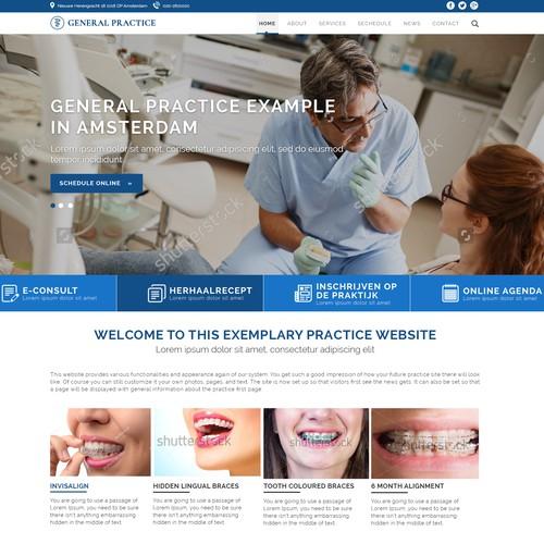 Modern Web Design For Medical Profile