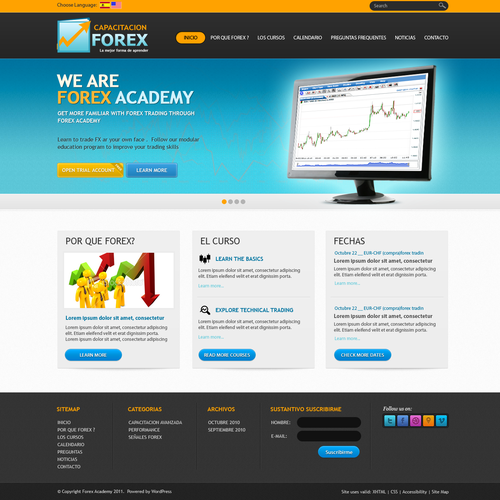 Forex Academy Website design