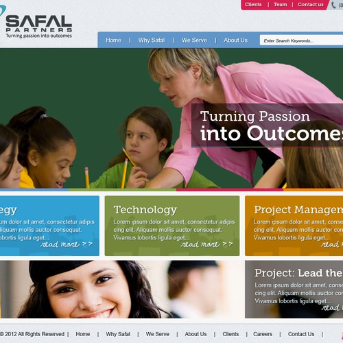Education consulting firm looking to revamp existing website