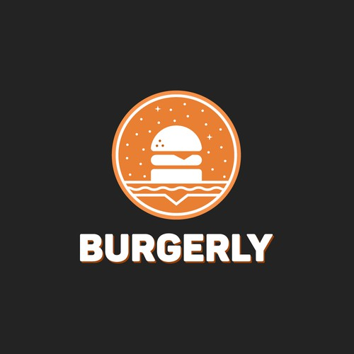 Burgerly: Logo for burger shop