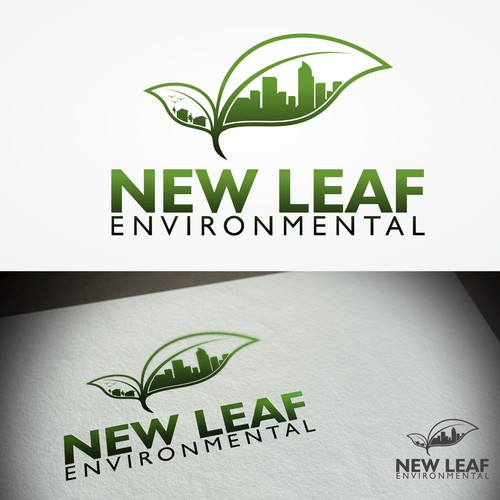 "Logo concept for ""NEW LEAF ENVIRONMENTAL"""