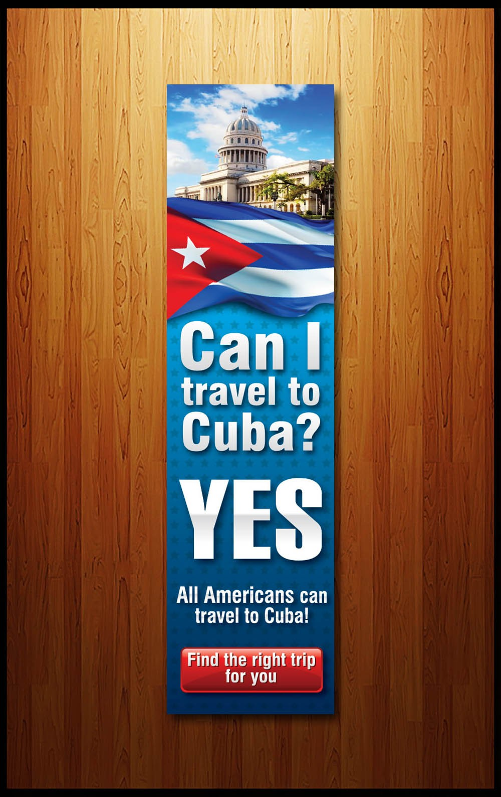 Help Cuba Trips with a new banner ad