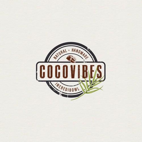Logodesign für eine Manufaktur, die Schalen aus Kokosnüssen herstellt.