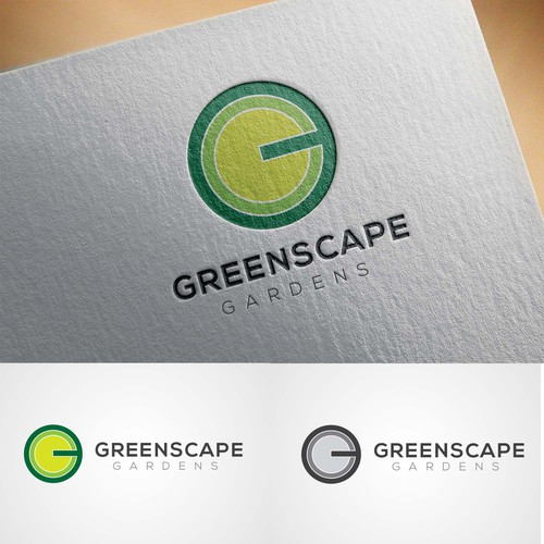 'Greenscape' - slick and contemporary landscape architect logo