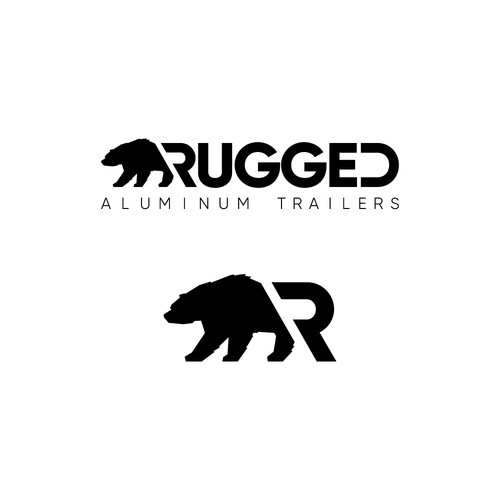 Tough, outdoor-oriented logo that avoids cliches