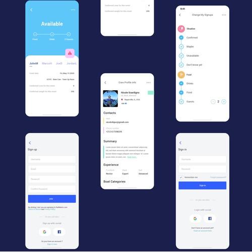 Mobile interface design