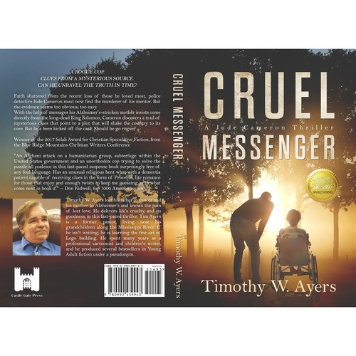 ''Cruel messenger'' book cover