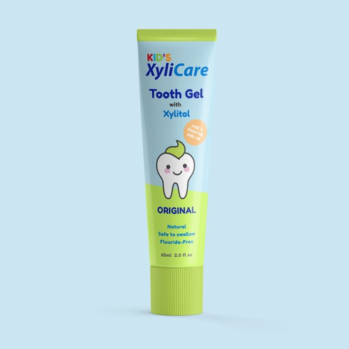 Toothpaste with Original Illustration