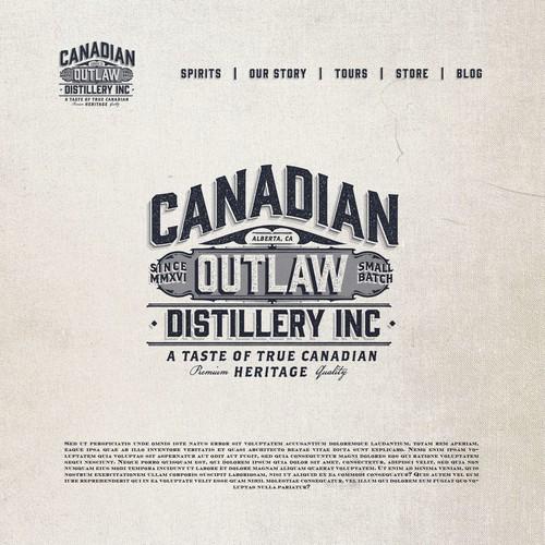 Candadian Outla Distillery / Logo