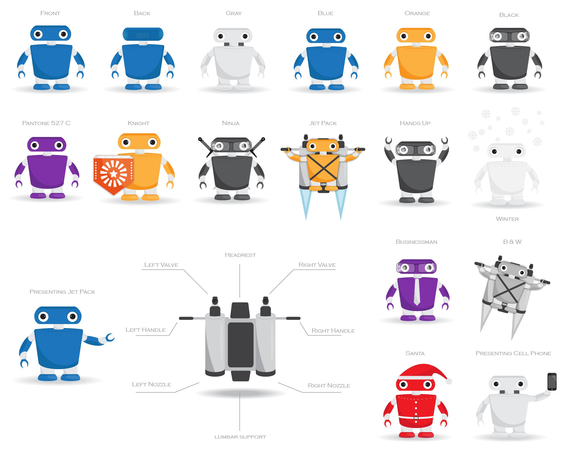 Robot w/ Jet Pack Character Icon !