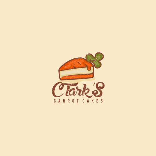 logo concept for clark's carrot cakes