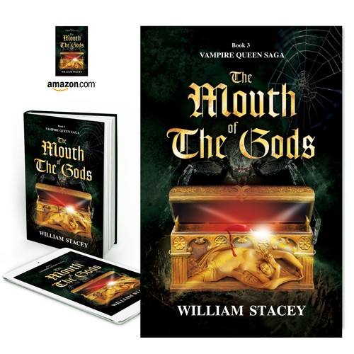 "Book cover for ""The Mouth of the Gods"" by William Stacey"
