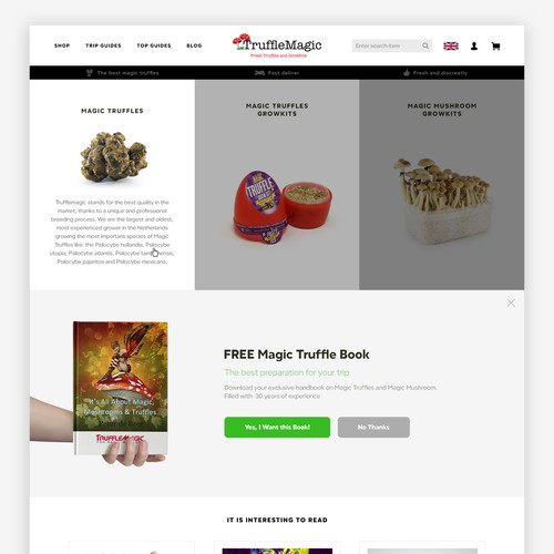 Truffleshop Homepage
