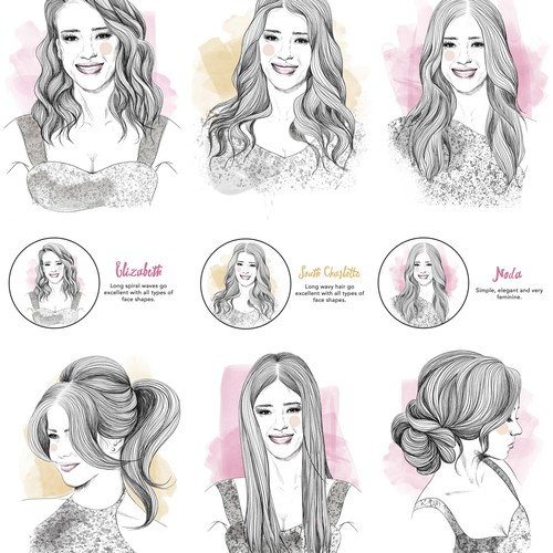 Women Hairstyles Illustration