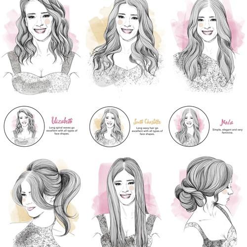Women Hairstyles Illustration