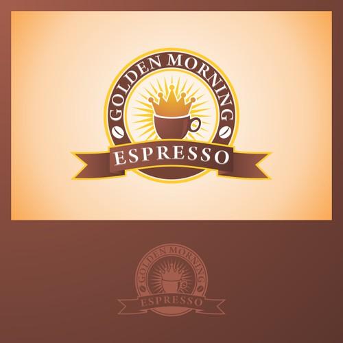 logo for Golden Mornings Espresso